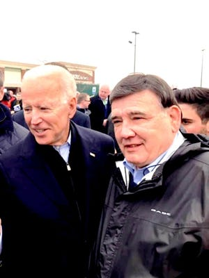 Pacheco said he was convinced of Biden's candidacy early on in the process when he was one of many Democrats vying for the job.