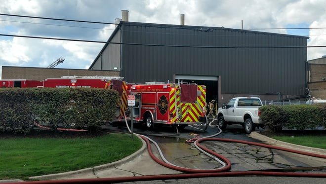 Farmington Hills firefighters arrived at Specialty Steel on Eight Mile to battle a fire reported inside the heat treatment facility. No injuries were reported.