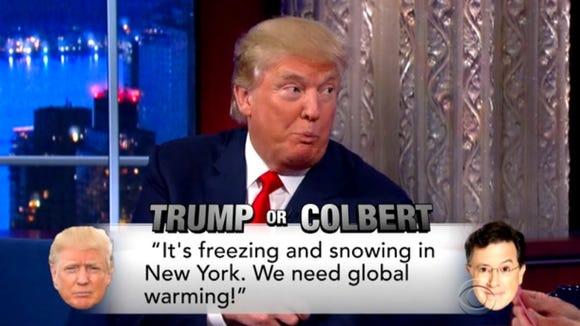 Spoiler alert—it was Trump.