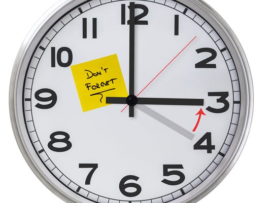 Clock with post-it-note