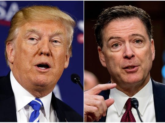 El presidente Donald Trump y el ex director del FBI James Comey sostienen una intensa disputa.