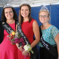 Karoline, Kevin and Katie Twardokus were very busy before and during the Dodge County Fair, getting their show animals ready including dairy, pigs and beef.  Dodge County Fair has played a big role in their lives.  Karoline, as the reining Fairest of the Fair, crowned the 2016 Fairest of the Fair on opening day of the fair.  They are standing in front of the barn that replaced the one lost to fire January 9, the night before Karoline competed for the state Fairest of Fair title.