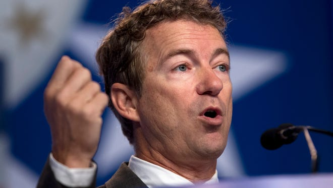 Sen. Rand Paul R-Ky. speaks during the Values Voter Summit,  held by the Family Research Council Action, Friday, Oct. 11, 2013, in Washington.