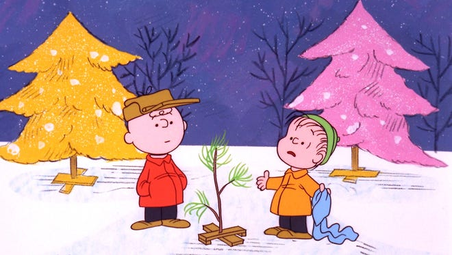 Charlie Brown finds a Christmas tree with Linus in 'A Charlie Brown Christmas,' marking its 50th anniversary this year.