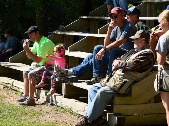 Shooters and their families gathered to shoot, eat and talk during the Hasty-Silver Creek Sportsmen's trap shoot event Monday, Sept. 4, in Silver Creek.
