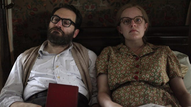 "Michael Stuhlbarg and Elisabeth Moss in a scene from ""Shirley."""