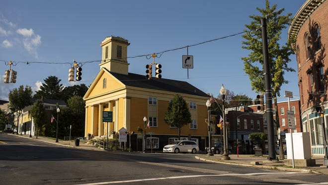 The old First Universalist Church, 368 Main St. in Southbridge, once had a spire.