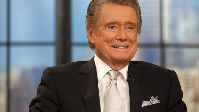 "In this 2011 file photo, Regis Philbin appears on his farewell episode of ""Live! with Regis and Kelly"" in New York."