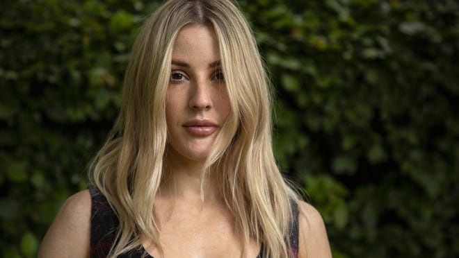 """British singer-songwriter Ellie Goulding poses for portraits in Oxfordshire to promote her new album, """"Brightest Blue."""""""