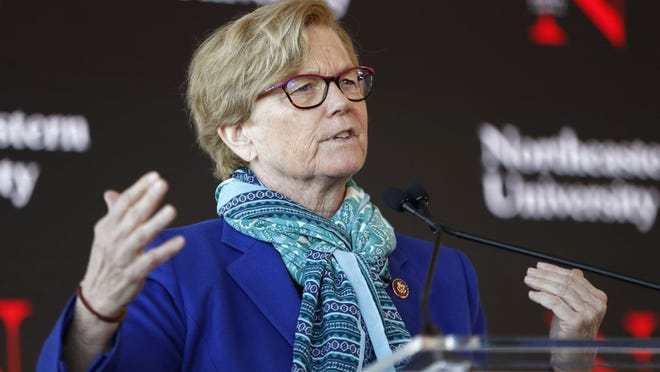 In this Jan. 27  file photo, Rep. Chellie Pingree, D-Maine, speaks a news conference in Portland, Maine.