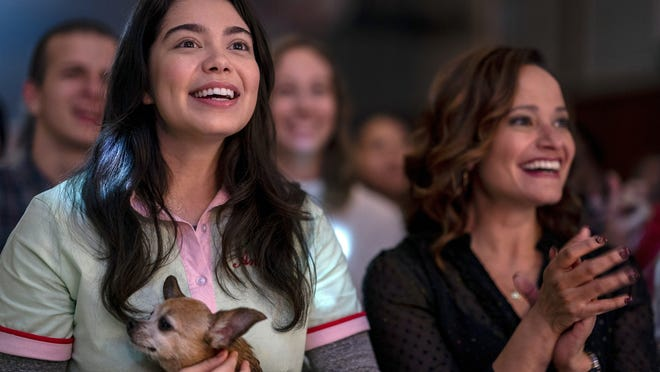 "Auli'i Cravalho, left, and Judy Reyes in a scene from ""All Together Now."""