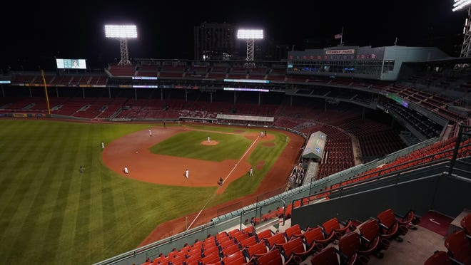 Like with every Red Sox home game this season, zero fans were in stands at Fenway Park on Thursday night.