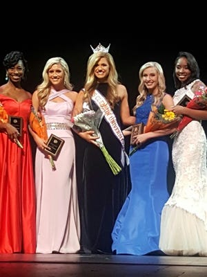 Shown are Miss Clemson University 2017 court from left are Anisa Snipes, fourth runner up; Kelsie Fringer, second runner up; Miss Clemson University 2017 Brooklyn Garrett; Carly Cook, first runner up; and Aaliyah Cupil; third runner up.
