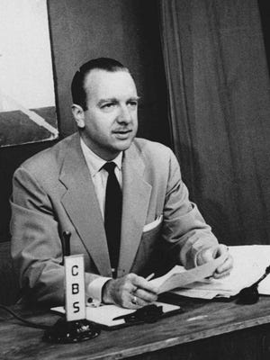 Walter Cronkite is shown at CBS offices in Washington, D.C, July 1,1952.