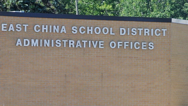 East China School Administration building along Meisner road in East China Township