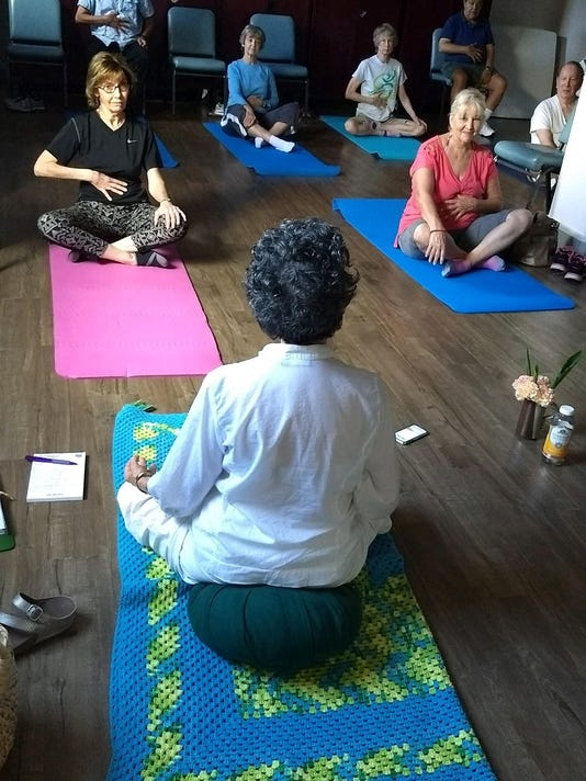 Pg_5_Leslie Hanks teaches yoga series