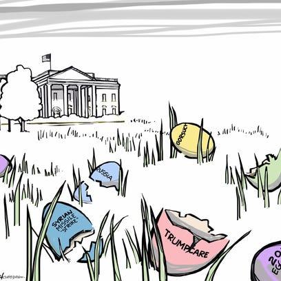 Easter egg hunt at the White House.