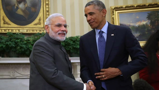 President Obama and Indian Prime Minister Narendra Modi at the White House last fall.