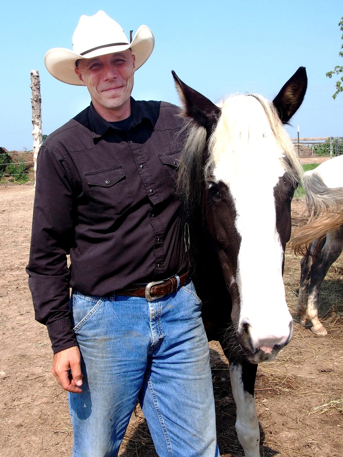 Pastor David ward and Valentine, his personal horse.