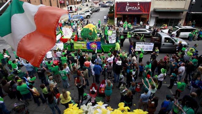 The 37th Annual St. Patrick's Day Parade will march down Boonville Ave. on March 18.