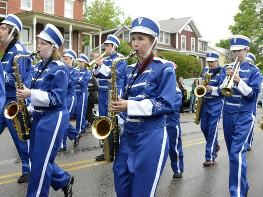 Members of the Vergennes Union High School marching