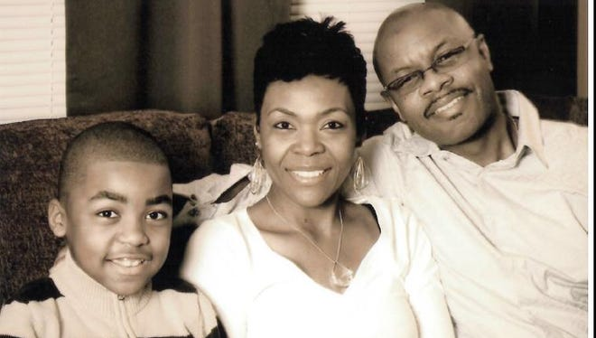 Robin Wooten and her husband Terence Wooten with their son Jacob, 11.