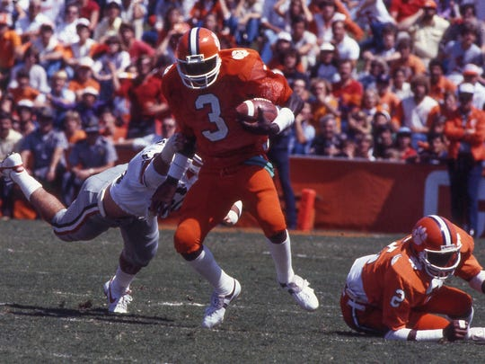 Clemson QB Homer Jordan plays against Georgia Saturday, September 19, 1981 at Memorial Stadium. The Tigers defeated the Bulldogs 13-3. Clemson forced nine Georgia turnovers, which was the most ever by a Clemson opponent, while handing Herschel Walker his only regular season loss as a Bulldog.