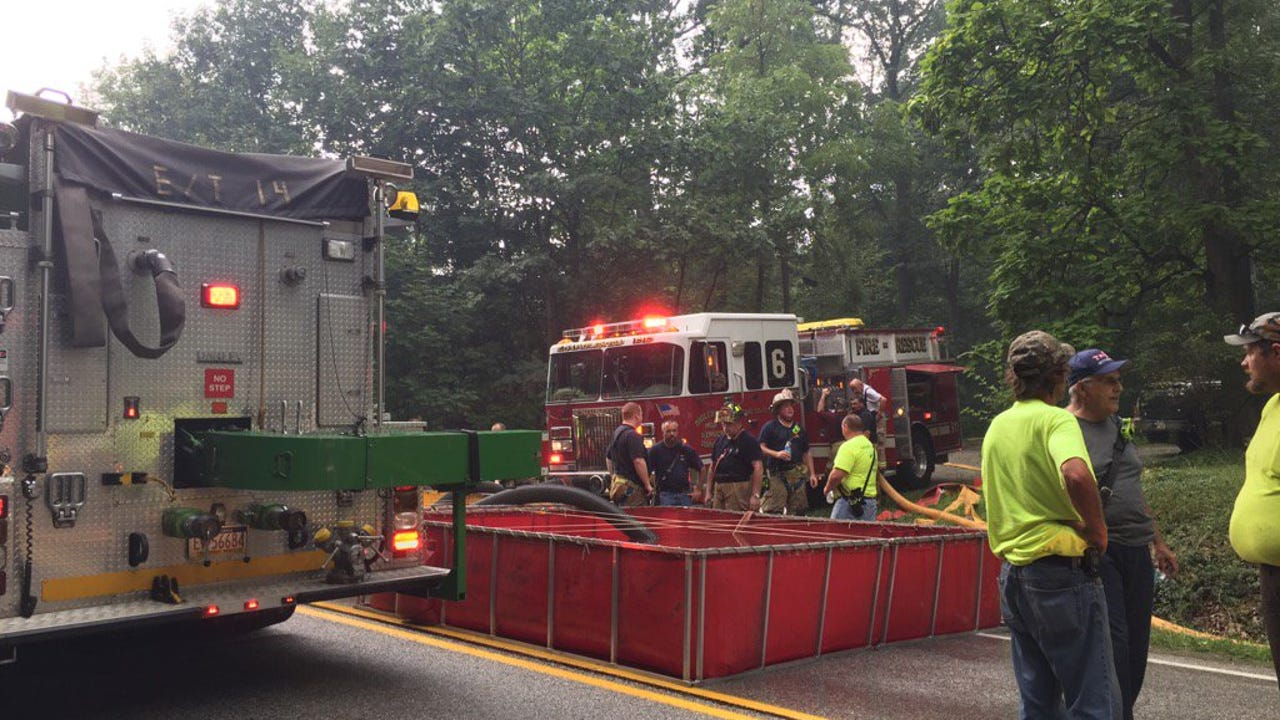 Multiple crews were battling a house fire in Butler Township on Friday.