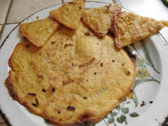 Socca - chickpea flour pancakes - popular street food