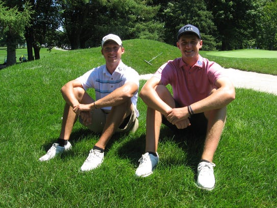 Drew Patterson, left, and Chad Stine relaxed for a