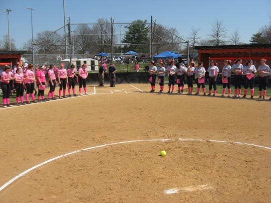 The Palmyra and Hershey softball teams were decked