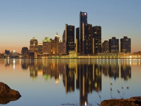 General Motor headquarters is shown in the RenCen in