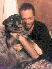 Adam Petzack's missing dog, Buddy, pictured with Petzack
