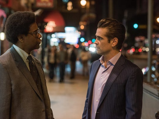 "Denzel Washington (left) and Colin Farrell star in ""Roman J. Israel, Esq."""