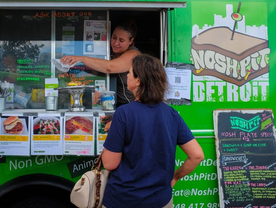 Nearly 50 food truck vendors attend the first Meridian