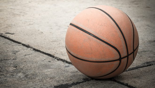 Old basketball for street hoops