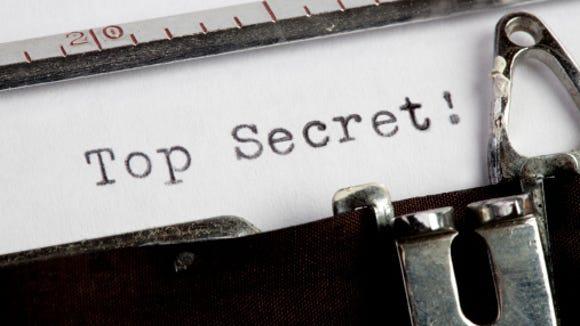 Top Secret on old typewriter