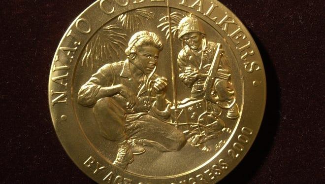 The Navajo Code Talker Medal of Honor.