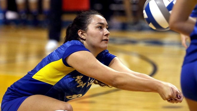 Angelo State University senior outside hitter Brianna Sotello will lead the Belles into the NCAA D-II South Central Regionals in Denver. ASU plays Colorado School of Mines in Thursday's quarterfinals.