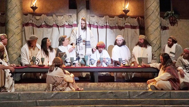 The Last Supper scene from a previous performance of The Promise in Glen Rose.