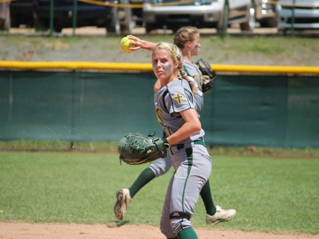 Calvary second baseman Mallory LaLena has overcome two knee surgeries to perform for the Lady Cavs. Her team will meet Opelousas Catholic at 2 p.m. on Friday in the Class 2A quarters.