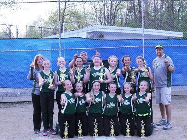 The Madison Rams won the seventh grade Mid Ohio League softball championship, going 17-0.