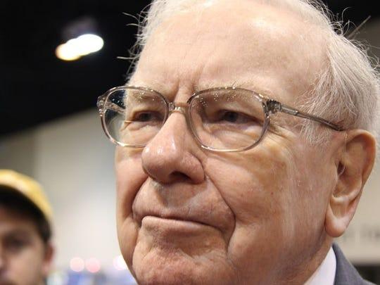 Close up photo of Warren Buffett.