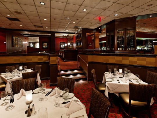 Dining room of Ruth's Chris Steakhouse in Parsippany.