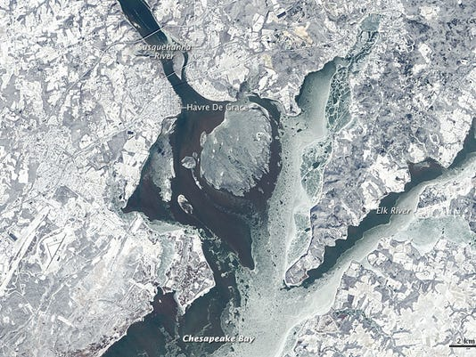 Upper Chesapeake Bay from Space