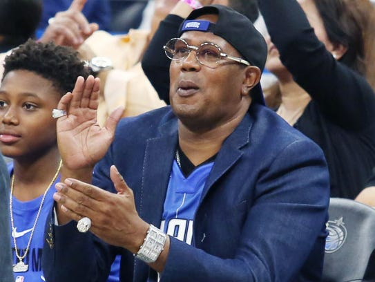 Master P cheers on the Orlando Magic earlier this month.