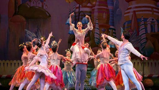"""In this undated photo provided by PSG/PR, performers act out a scene from Colorado Ballet's version of """"The Nutcracker, """" at Ellie Caulkins Opera House, in Denver. The version has won the Goldstar National Nutcracker Award, beating over 80 other """"Nutcracker""""-themed productions to be named an audience favorite."""