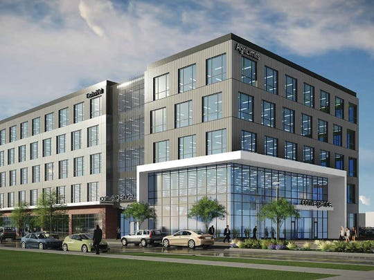 The Convergence facility is a 145,000-square-foot, five-story office building proposed for the Discovery Park District, a new private development on Purdue's west campus area.