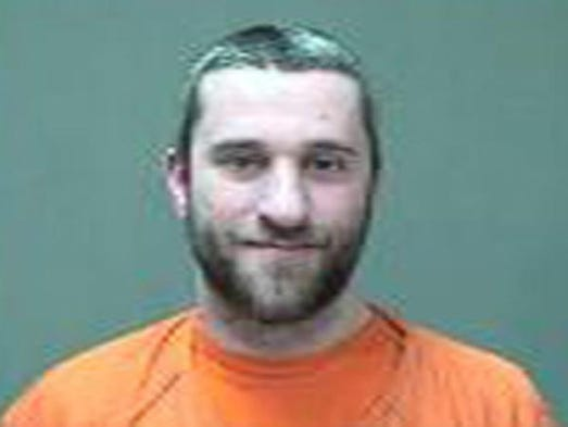 Dustin Diamond, 37, in a mug shot after being arrested