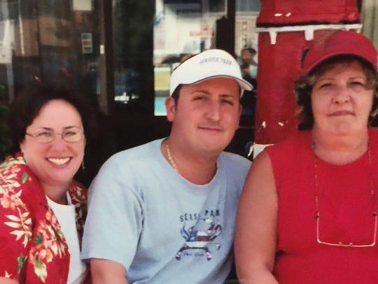 Michele Lobb, far right, with son, Michael Lobb and